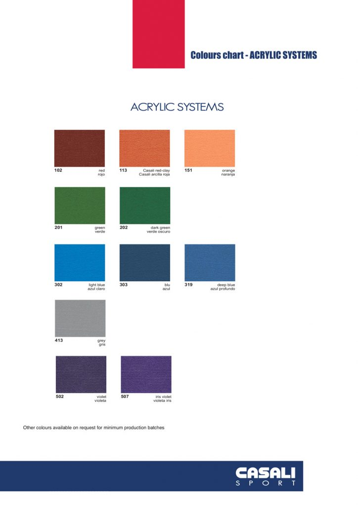 Acrylic Products Sports Coating Casali Aptc Australia